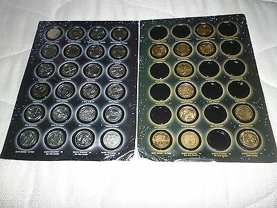 A Full Set Of Silver Coins &11 Gold Coloured Coins Star Wars R.o.t.s In A Folder
