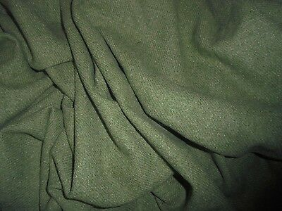 LG Antique Vintage Green 100% Wool Fabric Doll Dress Costume Victorian Dickins