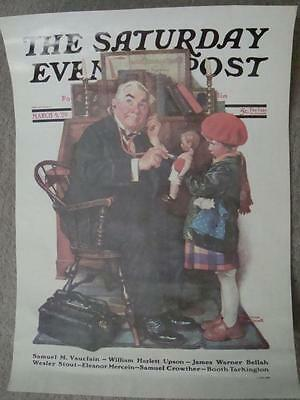 """3,preowned 11X15"""" Saturday Evening Post Norman Rockwell Poster Prints 1926,29,51"""