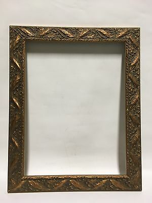 "VTG. Aesthetic Victorian Style Wood Leaf/Acorn Design Picture Frame 13"" x 17"""