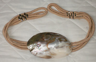 Ladies Mother of Pearl Sea Shell Belt