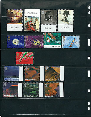 GREAT BRITAIN QEII 10 sets plus 1 sheet from the 2000s VF MNH *face value*