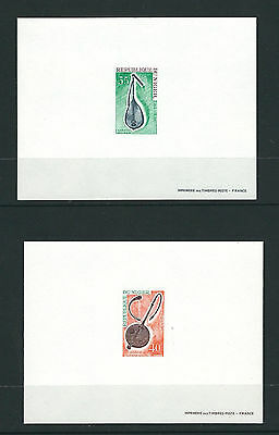 NIGER 1971-2 MUSICAL INSTRUMENTS (3 PROOF sheets) VF/XF MNH