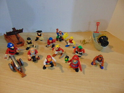 Fisher Price Great Adventures Pirate Ship Huge Lot Pirates Accessories