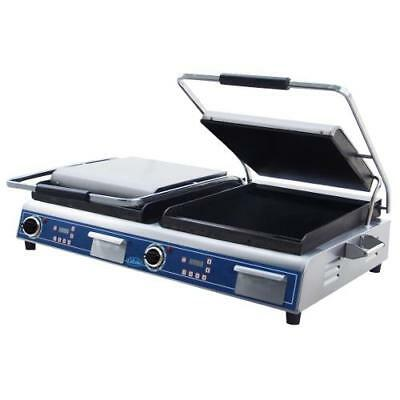 Globe - GSGDUE14D - Double Panini Grill with Smooth Plates