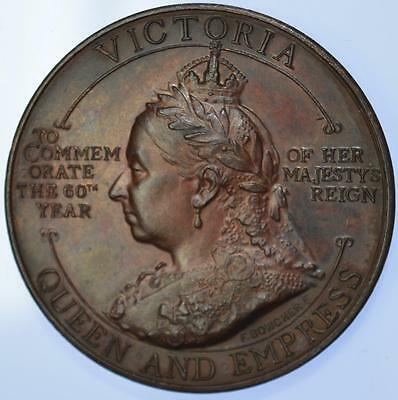 Queen Victoria - 1897 Opening of Sheffield town hall medal by Bowcher