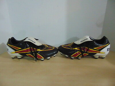 Soccer Shoes Cleats Mens Size 8.5 Reebok Black Burgundy Yellow