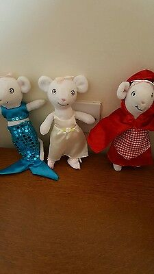 Angelina,Ballerina  plush toy mouse...3 all dressed..by Hit Entertainment