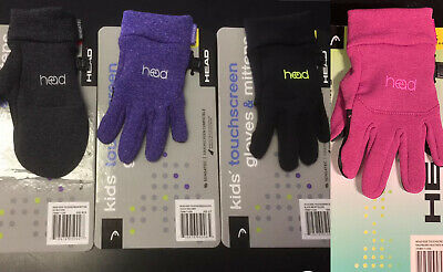 Head Kid's Sensatec Touchscreen Gloves or Mittens XS(2-4) S(4-6) M(6-10) Various
