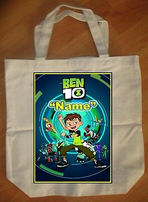 """""""New Ben 10"""" Custom Personalized Birthday Tote Bag Party Favor"""