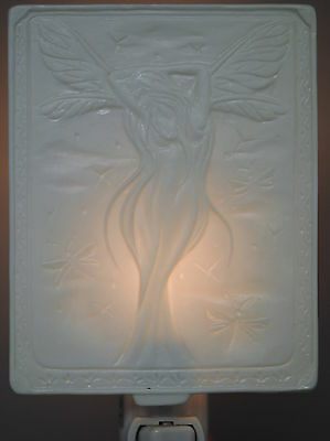 Fairy Night Light - White Bisque Porcelain - New In Box