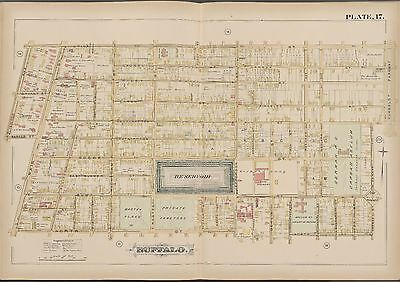 1891 Gm Hopkins Buffalo New York German Orphan Asylum Utica - North St Atlas Map