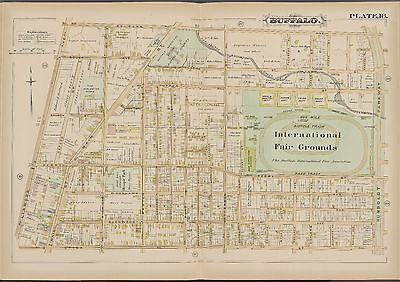 1891 Gm Hopkins, Olympic Baseball Park Of Buffalo Bisons New York Copy Atlas Map