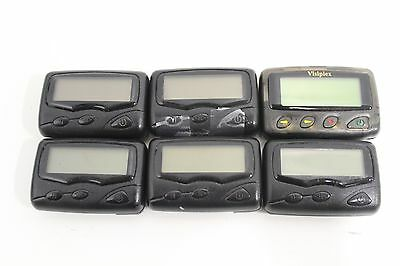 Lot of 6) Turn-Key Visiplex TTI Ovation 4.15.0250MHz VP-4 410-415 Mhz Pagers