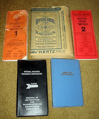 Railways Guides Manuals Santa Fe Southern Amtrak Southern Pacific Time Tables