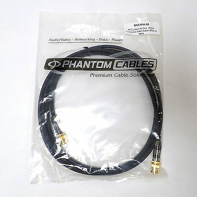 Phantom Cables Bnc Male To Bnc Male 8 Ft Premium Cable Bnc1Ph-08 Bnib/nos