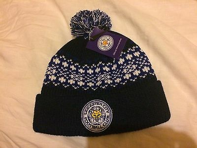leicester city bobble hat