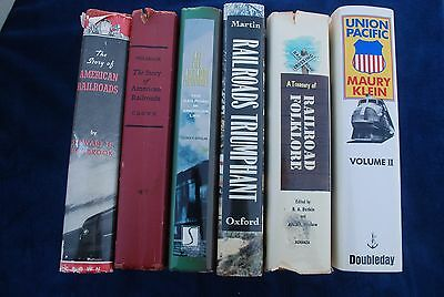 Lot of six railroad books