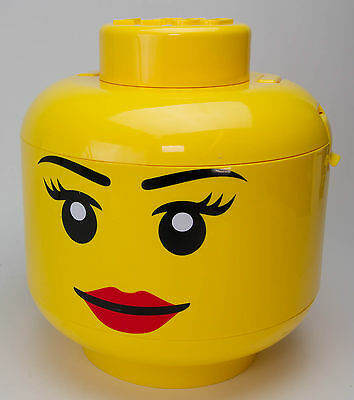 Lego Sort and Store Smiley Girl Girly Storage Head 30 cm. Very Rare!