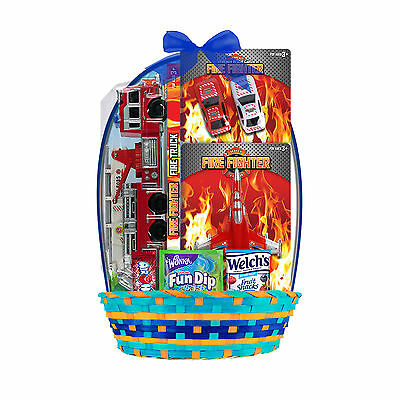 Fire Truck And Airplane Easter Basket