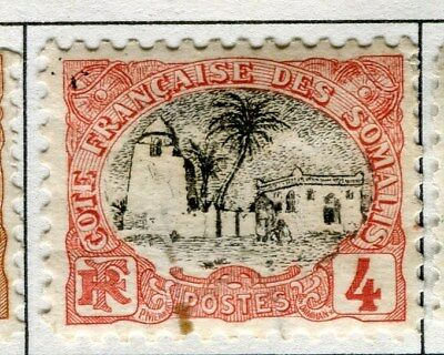 FRENCH SOMALIA;  1903 early pictorial issue mint hinged 4c. value