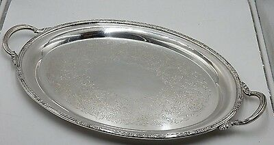 """Antique International Silver #6081 """"camille"""" Large 24"""" Silverplate Waiter Tray"""
