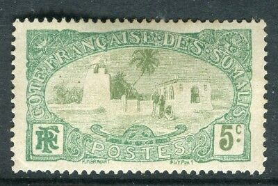 FRENCH SOMALIA;   1909 early pictorial issue Mint hinged 5c. value