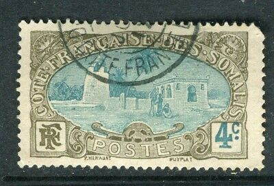 FRENCH SOMALIA;   1909 early pictorial issue fine used 4c. value