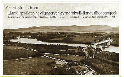 Early Valentines Postcard - Menai Straits From Llanfair - Card No. 6182