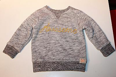 Next Baby Boys Grey Awesome Thick Furry Fleece Lined Jumper age 1 1/2 -2 years