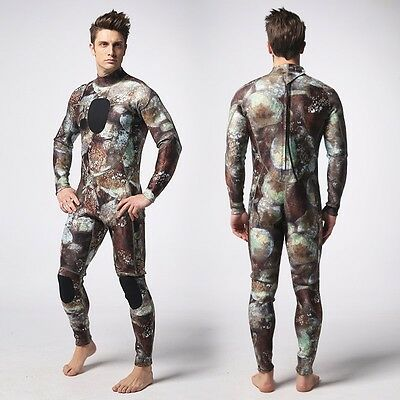 Brown Moss 3MM Camouflage Full Body wetsuit Surf SCUBA Skin Diving Spear Fishing