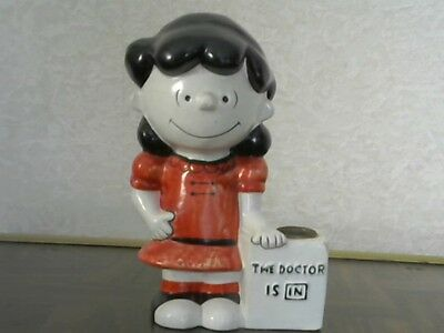 """Vintage 70's Hallmark LUCY Peanuts """"The Doctor Is In"""" Candle Holder - Japan"""