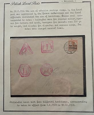 Poland Polish Local Posts 1916 Cover For Description Look At The Picture Spl Rrr