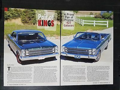 1966 Ford Galaxie 500/XL & 500 7 Litre  6-Page Article - Free Shipping