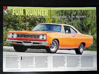 1968 Plymouth Road Runner  4-Page Article - Free Shipping