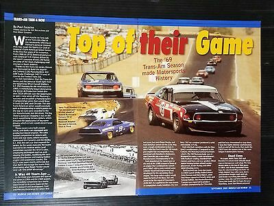 1969 Pontiac Trans-Am Motorsport Season 5-Page Article - Free Shipping