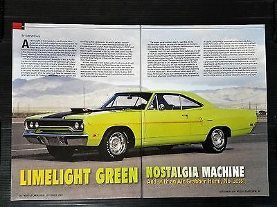 1970 Plymouth Road Runner Limelight Green  4-Page Article - Free Shipping