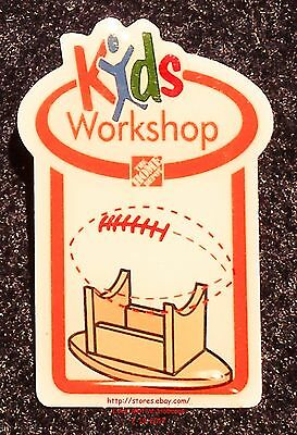 LMH PINBACK Pin  FOOTBALL BALL DISPLAY Holder  Home Depot Kids Workshop 2010