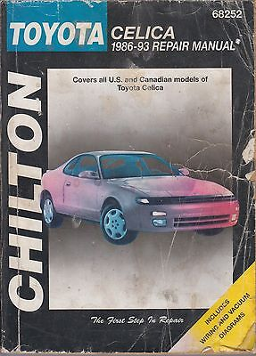 Toyota Celica T160 & T180 Series ( 1986 - 1993 ) Owners Workshop Manual