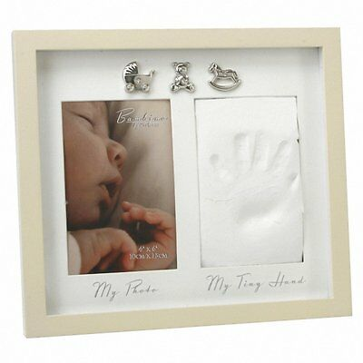 👶BAMBINO BY JULIANA HAND PRINT P/FRAME WITH 3 ICONS-precious memories👶