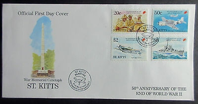 St. Kitts 1995 50th Anniv of The End of WWII First Day Cover.