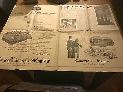 1954 Arnotts Biscuit Ad & Anthony Horden Store Sydney Herald