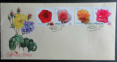 Malaysia 2003 Roses  Set on First Day Cover.