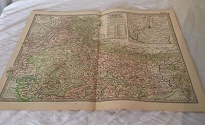 Vintage Northern India The Map CENTURY DICTIONARY AND CYCLOPEDIA 1906 20186