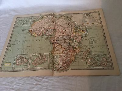 Vintage Africa The Map CENTURY DICTIONARY AND CYCLOPEDIA 1906 20197