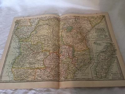 Vintage Africa Central The Map CENTURY DICTIONARY AND CYCLOPEDIA 1906 20200