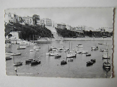 The Harbour Tenby 1960s Old Postcard 1961