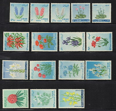 Stamps Lebanon 1956 Flowers mint unhinged