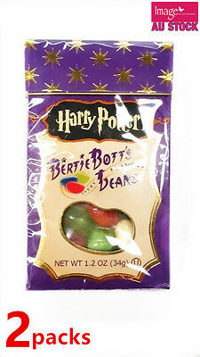 2 packs Harry Potter Bertie Botts Trick Flavored Jelly Beans by Jelly Belly 34g