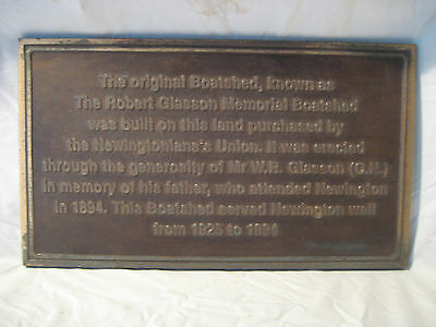 Original Newington College Ceremony Boat Shed Large Brass Plaque - 20 Years Old